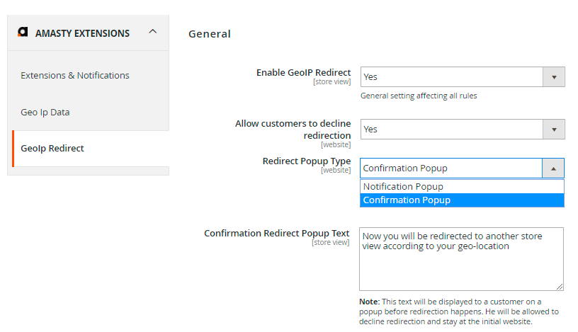 Guide for GeoIP Redirect for Magento 2 [Amasty Extensions FAQ]