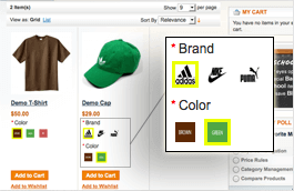 magento configurable product images