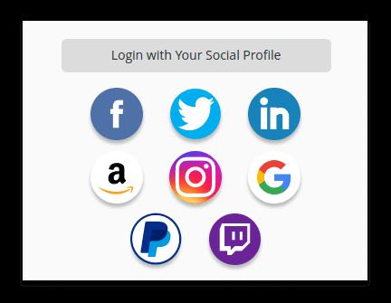 Google Facebook Twitter LinkedIn Instagram Amazon PayPal Twitch Magento 2