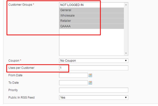 Auto Add promo Items - uses per customer