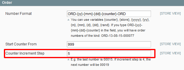 Magento Custom Order Number extension by Amasty