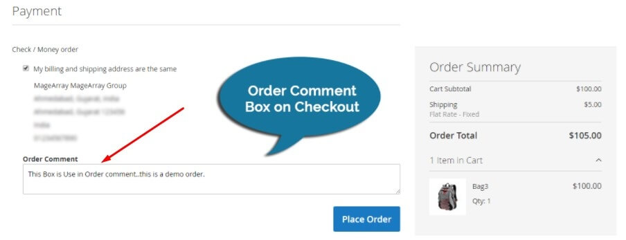 magento-order-comment-box-on-checkout