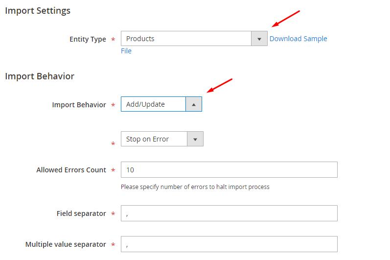 settings-import-magento