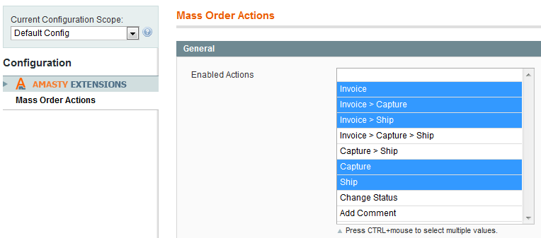 Magento Mass Order Actions - Amasty