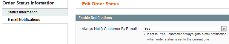 Magento Order Status extension by Amasty
