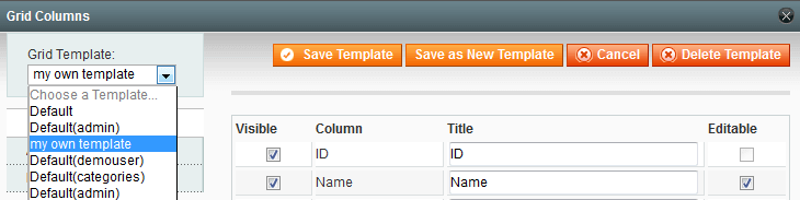 Magento extended product grid - Amasty